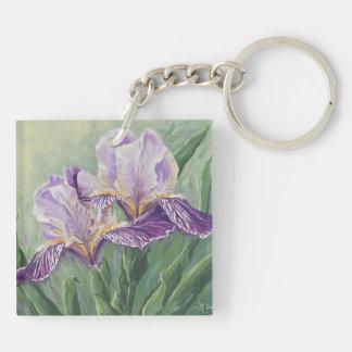 0455 Purple Irises Keychain