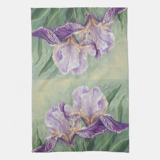 0455 Purple Irises Kitchen Towel