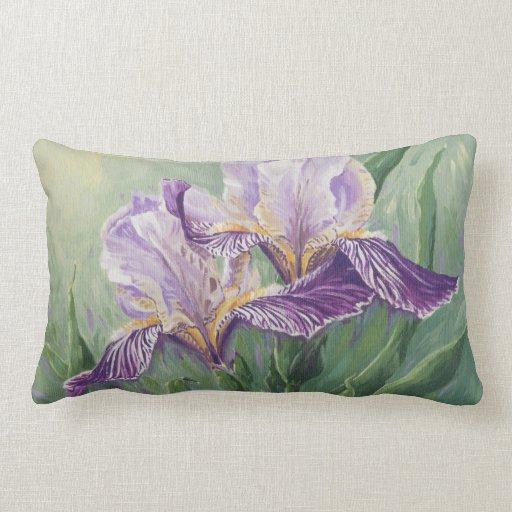 0455 Purple Irises Throw Pillow