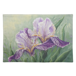 0455 Purple Irises Cloth Placemat