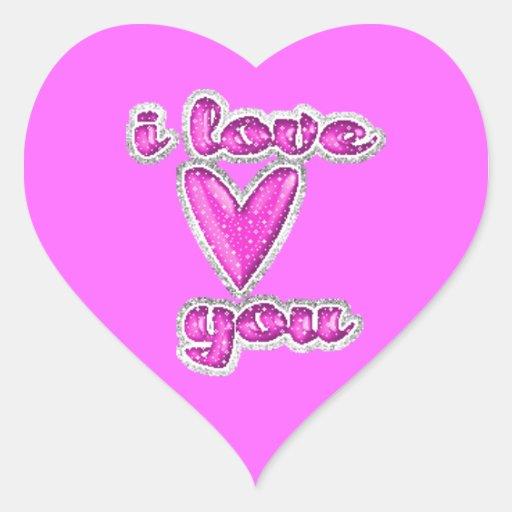 i love you heart glitter - photo #19