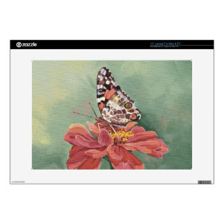 0461 Painted Lady Butterfly on Zinnia Decals For Laptops