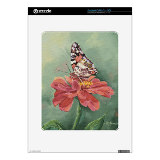 0461 Painted Lady Butterfly on Zinnia iPad Skins