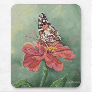 0461 Painted Lady Butterfly on Zinnia Mouse Pad