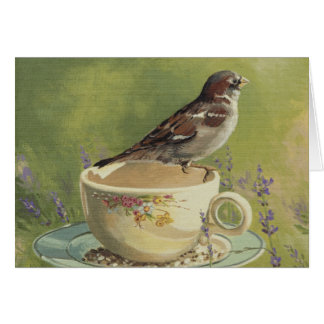 0470 Sparrow Birthday Card