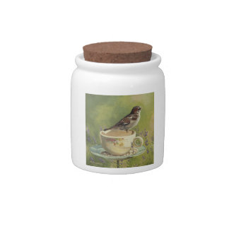 0470 Sparrow Cannister Candy Dish