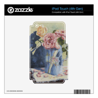 0476 English Roses in Blue Pitcher iPod Touch 4G Decals