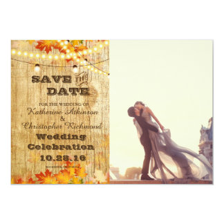 047-A lover couple in front of Louvre/fall wedding Card