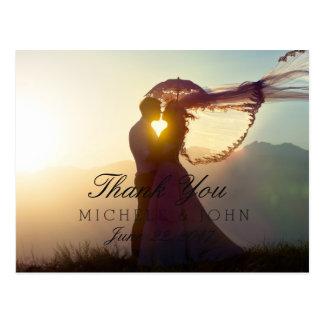 047-Wedding Couple Sunset Romance Postcard