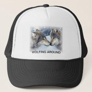 047, WOLFING AROUND TRUCKER HAT