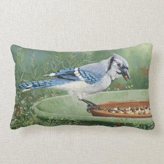 0481 Blue Jay at Feeder Lumbar Pillow