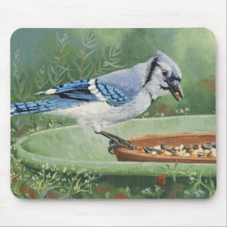 0481 Blue Jay at Feeder Mouse Pad