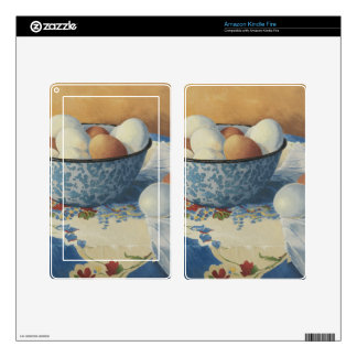 0492 Eggs in Blue Enamel Bowl Decal For Kindle Fire