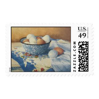 0492 huevos en franqueo azul del cuenco del esmalt