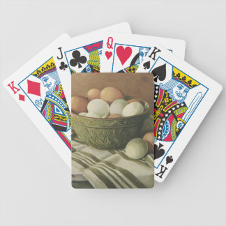 0497 Eggs in Antique Green Bowl Bicycle Playing Cards