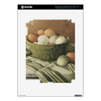 0497 Eggs in Antique Green Bowl iPad 3 Decals