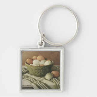0497 Eggs in Antique Green Bowl Keychain