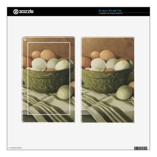 0497 Eggs in Antique Green Bowl Kindle Fire Skins