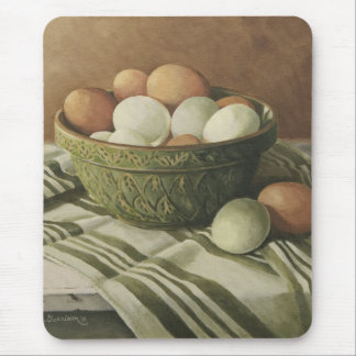0497 Eggs in Antique Green Bowl Mouse Pad