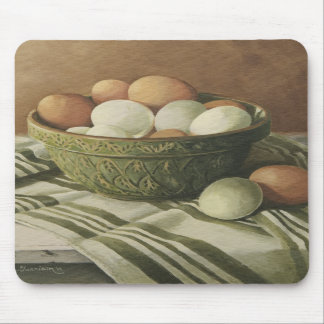 0497 Eggs in Antique Green Bowl Mousepads