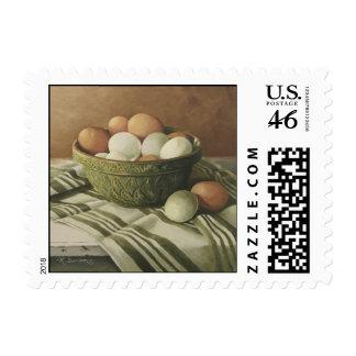 0497 huevos en franqueo verde antiguo del cuenco