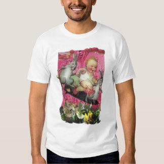 049 - Camiseta de los conejitos que practica surf Playera