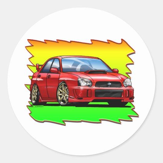 04_05_WRX_Red Classic Round Sticker