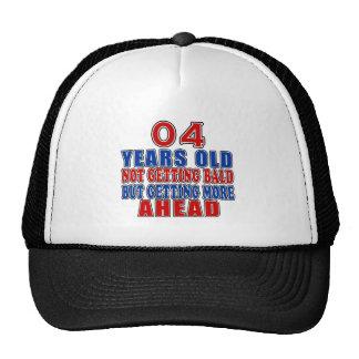 04 a continuación diseños del cumpleaños gorra