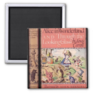 04 - Alice Book Cover 2 Inch Square Magnet