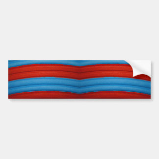 04 Blue & Red Bumper Sticker Car Bumper Sticker