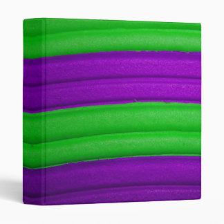 "04 Green & Purple Rainbow 1"" Avery Binder"