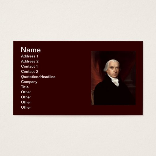 04 James Madison Business Card