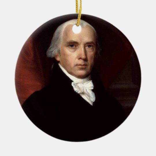 04 James Madison Ceramic Ornament