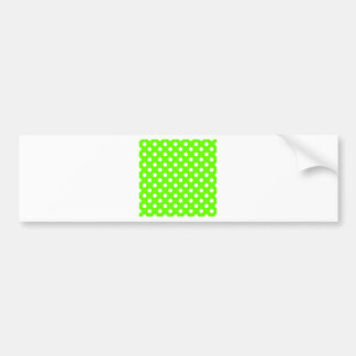 04 - Polka Dots Large - White on Bright Green-66FF Bumper Sticker