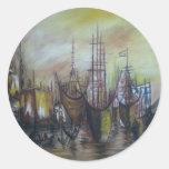 04-Ships.jpg Round Sticker