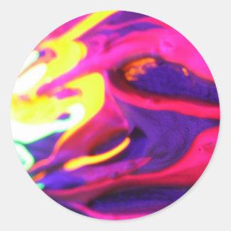 """#04 TLuv.Design© """"Phantasmagoria"""" Series Classic Round Sticker"""