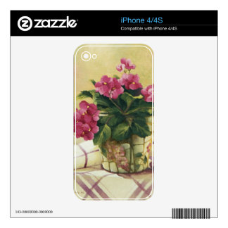 0511 African Violets in Mosaic Planter iPhone 4S Skins