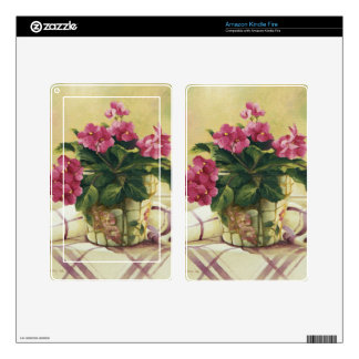 0511 African Violets in Mosaic Planter Kindle Fire Skin