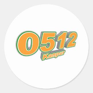 0512 Kanpur Classic Round Sticker