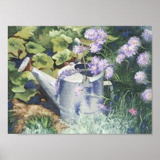 0516 Watering Can & Pincushions Art Print