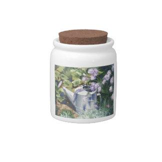 0516 Watering Can & Pincushions Candy Jar