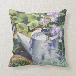 0516 Watering Can & Pincushions Throw Pillow