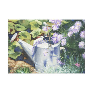 0516 Watering Can Pincushions Wrapped Canvas Print