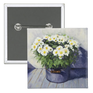 0522 White Mums in Enamelware Pot Button