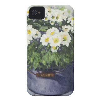 0522 White Mums in Enamelware Pot iPhone 4 Case