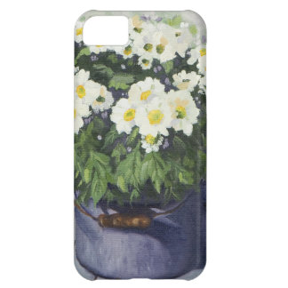 0522 White Mums in Enamelware Pot iPhone 5C Case