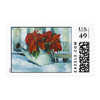 0525 Poinsettia in Watering Can Postage