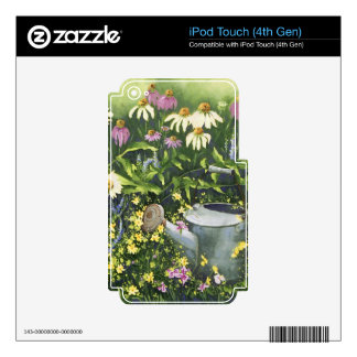 0530 Cone Flowers & Watering Can iPod Touch 4G Skin