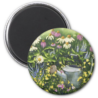 0530 Cone Flowers & Watering Can Magnet