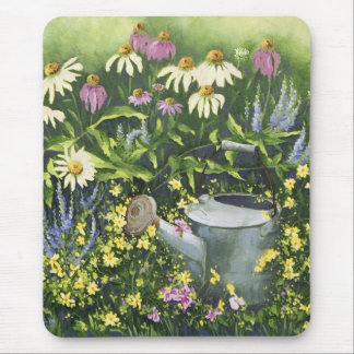 0530 Cone Flowers & Watering Can Mouse Pad